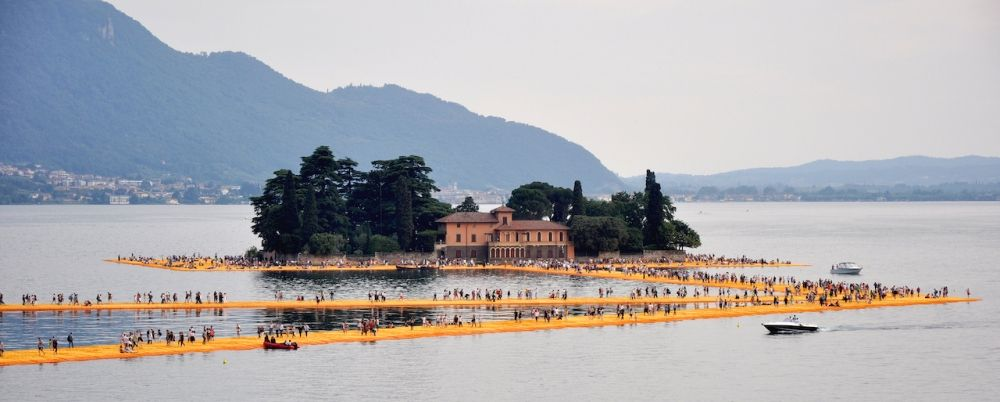 Christo's The Floating Piers, lake of Iseo, Italy 2016_Harald_Bischoff